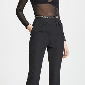 Alexander Wang black trousers with studded belt 6